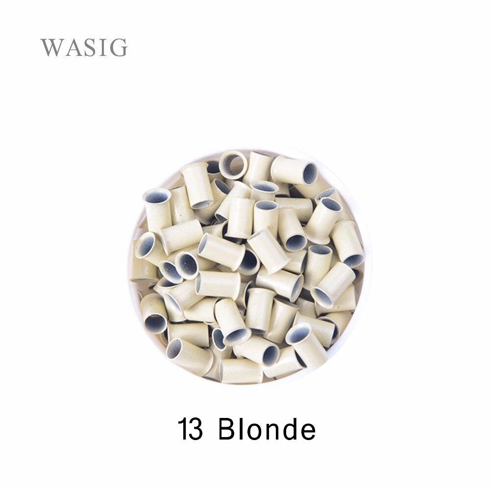 1000 шт. 3.4*3.0*6.0 мм расклешенные евро замки микро медные трубы Кольца Ссылки Бисер для Пряди человеческих волос для наращивания инструмент 13 # б...