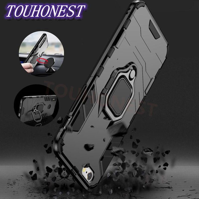 Armor Ring Car Bracket Magnetic Cover Case For iphone XS XR XS MAX X 5S SE 6S 7 8 case for iphone 6 6s 7 8 Plus With Holder Ring iphone xr case magnetic