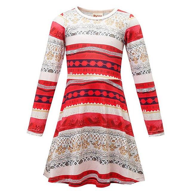Robe Enfant Обувь для девочек Платья для женщин детская одежда 2017 Брендовое осеннее платье принцессы детская туника в полоску Рождество Платья для маленьких девочек детей