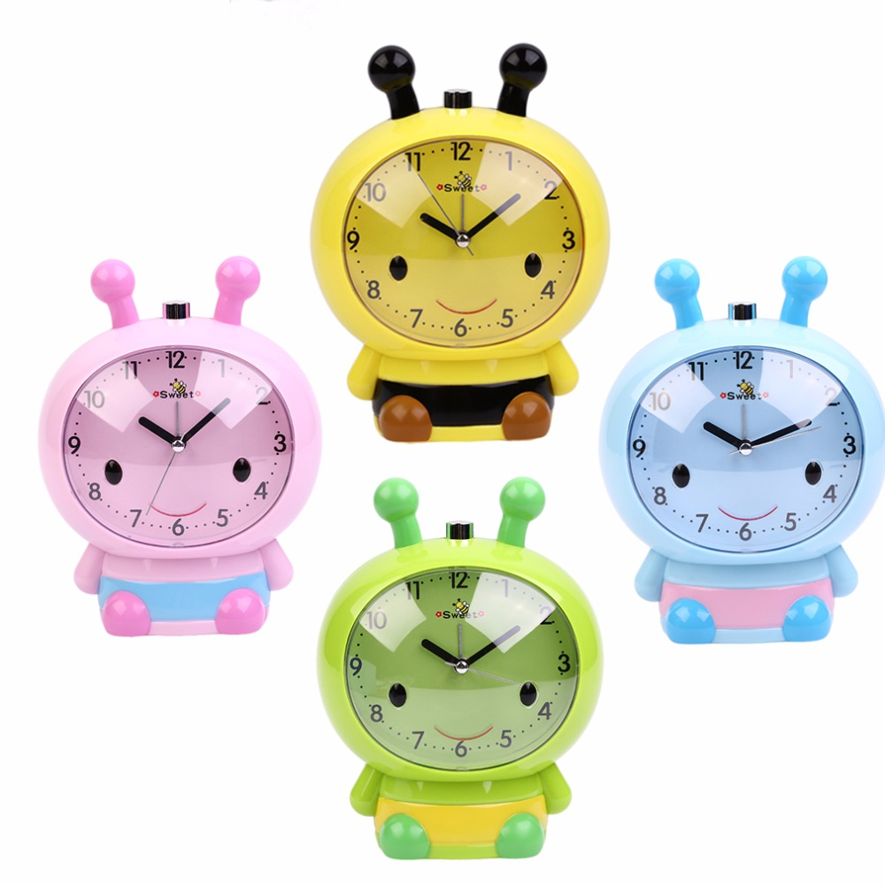 Little Bee Style Sweet Silent Alarm Clock Fashion Personality Lazy Gift For Student Children Alarm Clock Near Bed Necessary