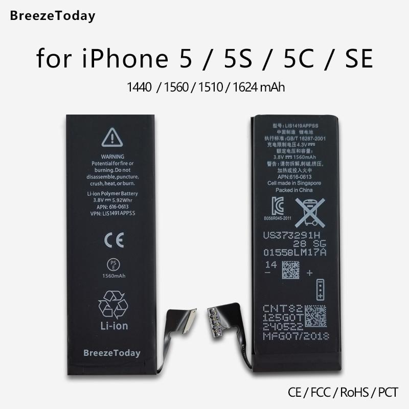 Mobile-Phone-Battery Batterie IPhone Original Ce For SE 5/5s/5c SE