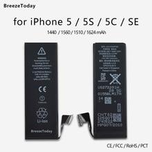 Mobile Phone Battery For iPhone SE 5 5S 5C Replacement батарея для телефона Original Capacity bateria batterie