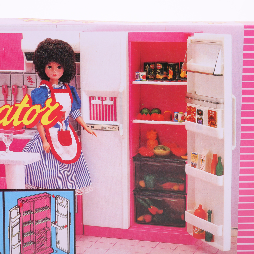 1/6 Scale Kitchen Furniture Fridge Refrigerator Model for   Dollhouse Hot Toys Figures Accessory baby toys