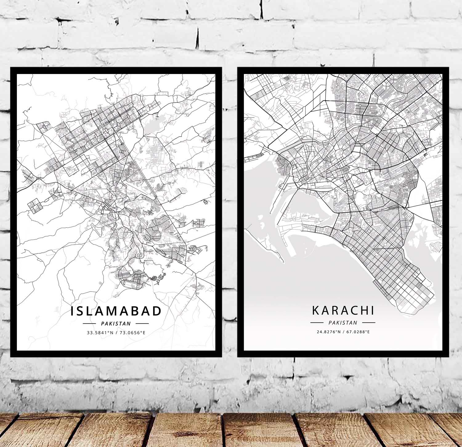 Islamabad Pakistan Map: Islamabad Karachi Pakistan Map Poster-in Painting