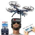 Syma x5sw-1 wifi rc dron 6-axis quadcopter com câmera fpv sem cabeça em tempo real helicóptero do rc quad copter toys
