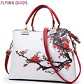 Flying birds! vintage women tote women leather handbag luxury designer shoulder bags bolsa women's handbag new arrive LM3432fb
