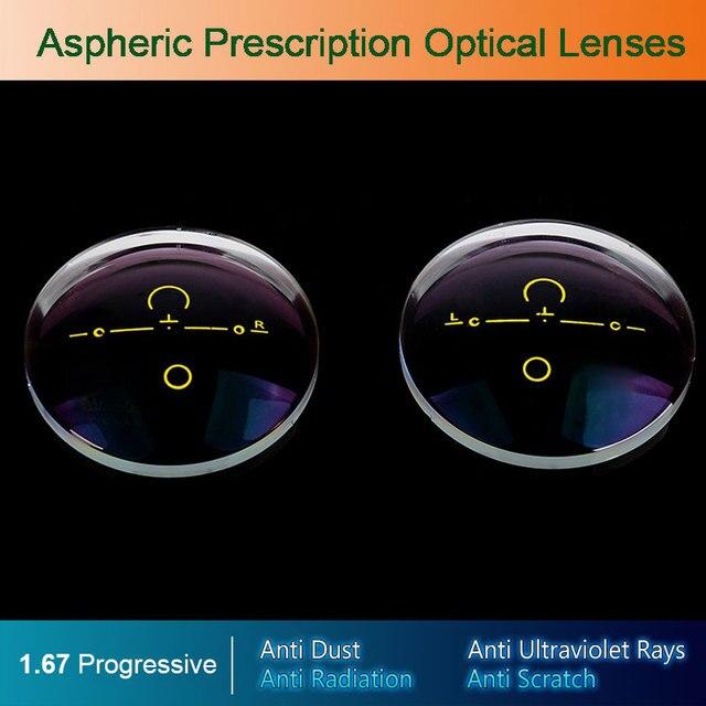 1.67 Digital Free-form Progressive Aspheric Optical Eyeglasses Prescription Eyewear Optical Lenses