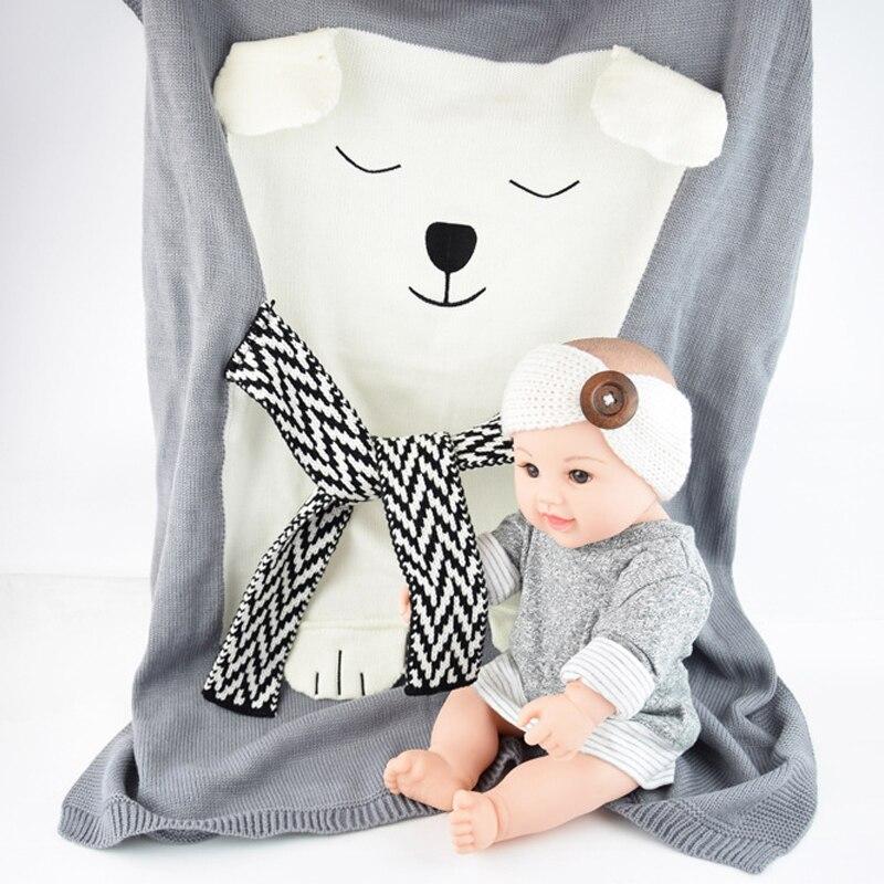 Mamadada Weiche Baby Tier Bär Decke Häkeln Neugeborene Decken Rosa