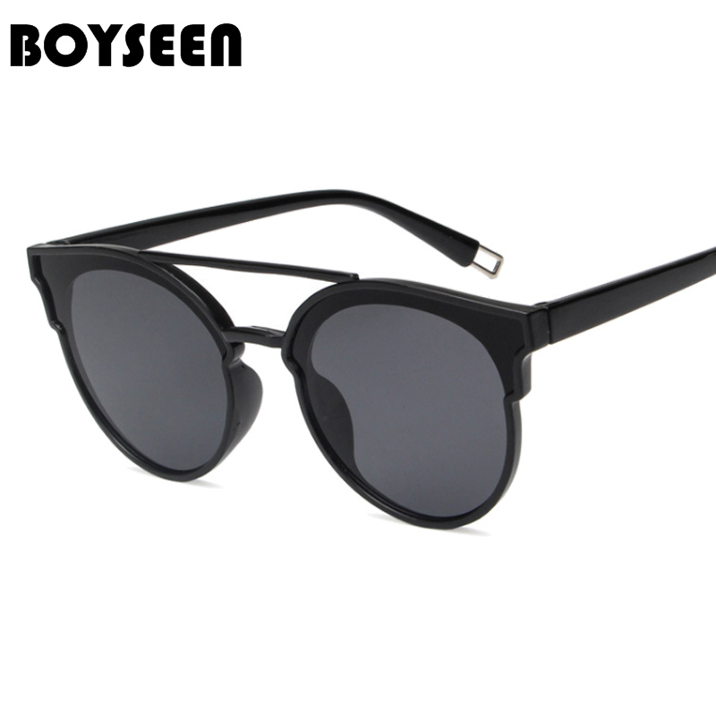 72344b381f06 BOYSEEN Hot Sale Fashion Cat Eye Sunglasses Women Classic Brand Designer  Female Twin Beams Coating Mirror Flat Panel Lens 5147-in Sunglasses from  Women's ...