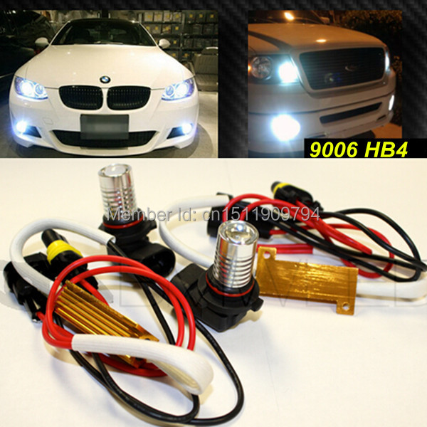 9006 HB4  Canbus Error Free  LED Fog Lights  Bulb For  BMW 3/5/7-Series E46 323i 325i 325Ci 330i 330ci M3 Z4 E60 E63 E64 E65 E66 canbus h7 led car headlight error free headlamp fog light for bmw e90 m3 m 320d 320i 318i 325i 328i 330d 330i 3 series 2005 2017