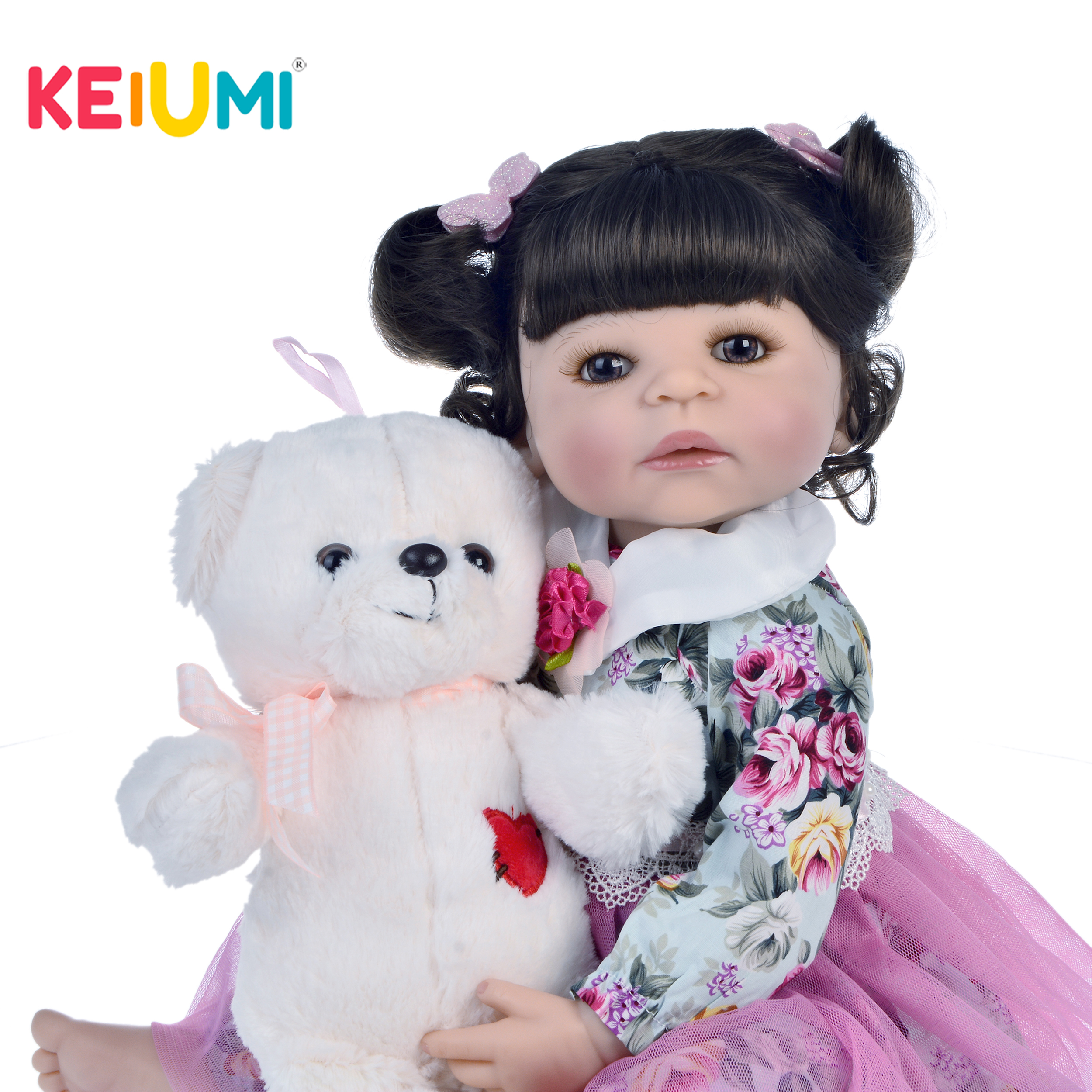 KEIUMI Hot Sale 22 Inch Reborn Doll Full Silicone Body Realistic Newborn Princess Toddler Babies Girl Boneca Bath Play House ToyKEIUMI Hot Sale 22 Inch Reborn Doll Full Silicone Body Realistic Newborn Princess Toddler Babies Girl Boneca Bath Play House Toy