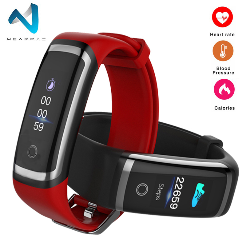 Wearpai M4 blood pressure smart wristband fitness tracker Color screen Bluetooth Synchronization Monitor smart bracelet IP67Wearpai M4 blood pressure smart wristband fitness tracker Color screen Bluetooth Synchronization Monitor smart bracelet IP67