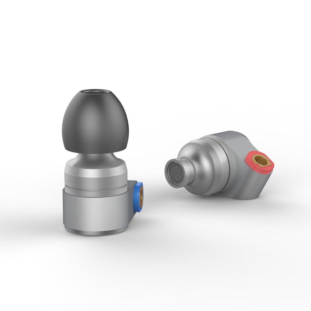 2017 LATA de Áudio T2 Em fones de Ouvido Fone De Ouvido Duplo Unidade Dinâmica de ALTA FIDELIDADE de Graves Fone de Ouvido DJ De Metal 3.5mm Fone de Ouvido Fone de Ouvido Com MMCX