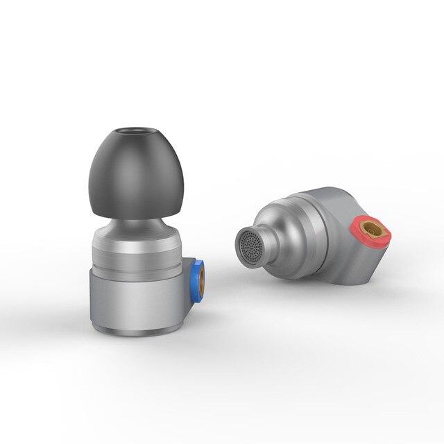2017 Олово аудио T2 в ухо наушник двойной динамический Drive HIFI бас наушники диджея Металл 3,5 мм наушники гарнитуры с MMCX