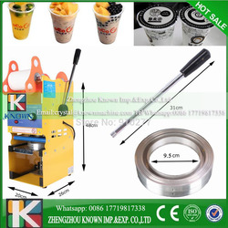New Model 220V Semi-auto Cup Sealing Machine For Food And Drink Package, Cup Sealer/Bubble Tea Cup Sealing Machine