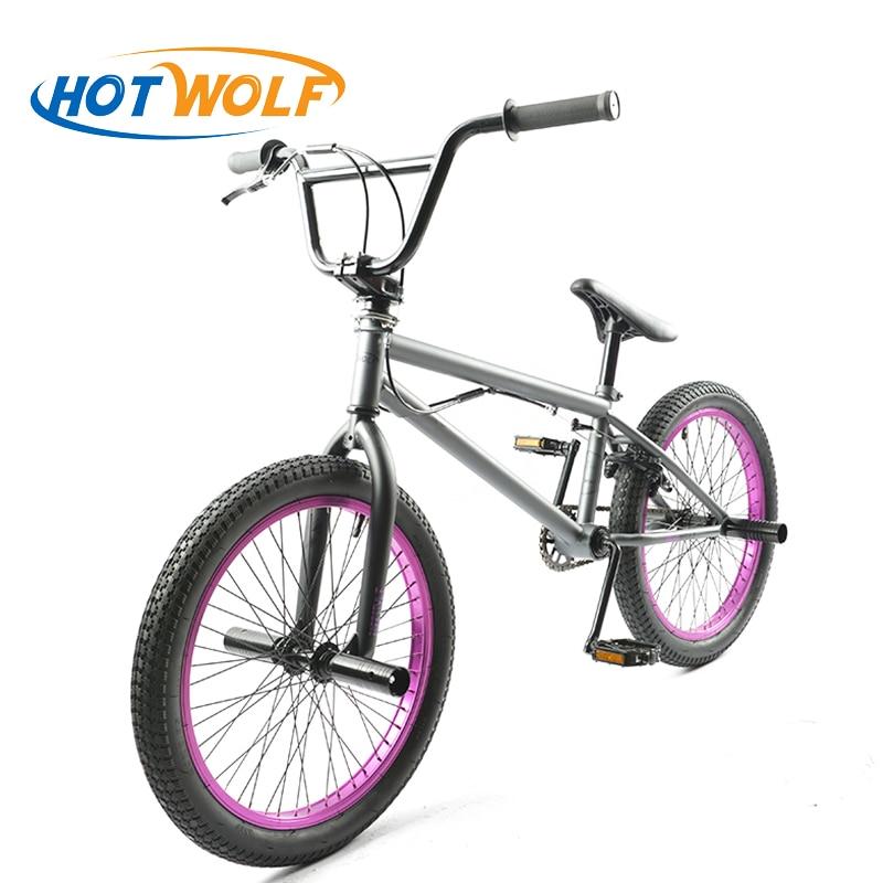Стальная рама 20 дюймов bmx велосипед мужской performance bike orange/красный шины не складной велосипед для шоу горячая волк задний тормоз V велосипед