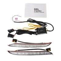 2Pcs Car LED DRL Daytime Running Light Driving Fog Lamp For KIA K2 RIO 2012 2014