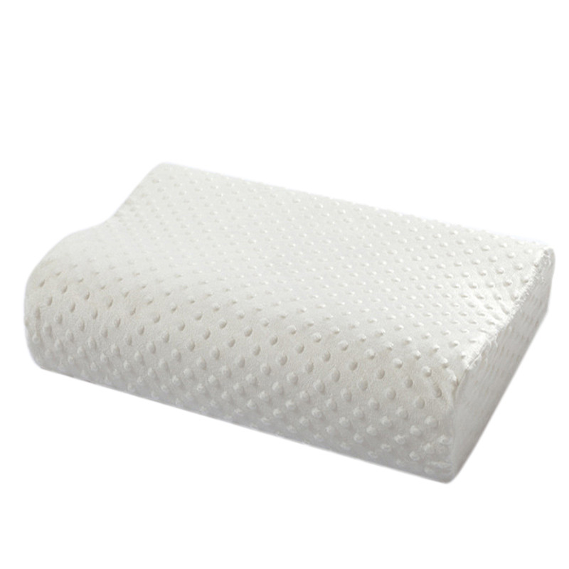 2017 Nuovo ortopedico Cuscino per collo in fibra a lento rimbalzo Memory Foam ortopedico in lattice Cuscino biancheria da letto Cervical Health Care