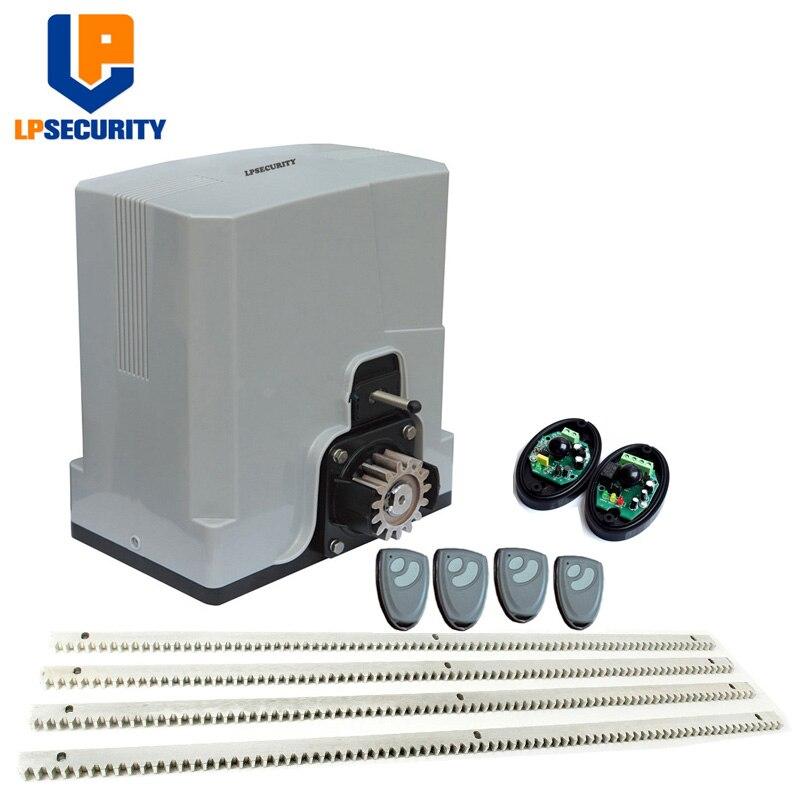 LPSECURITY 600 KG 24VDC prévoir système de portail automatique opérateur de moteur de porte coulissante y 6 m supports de vitesse (lampe, capteur, bouton, option de clavier)