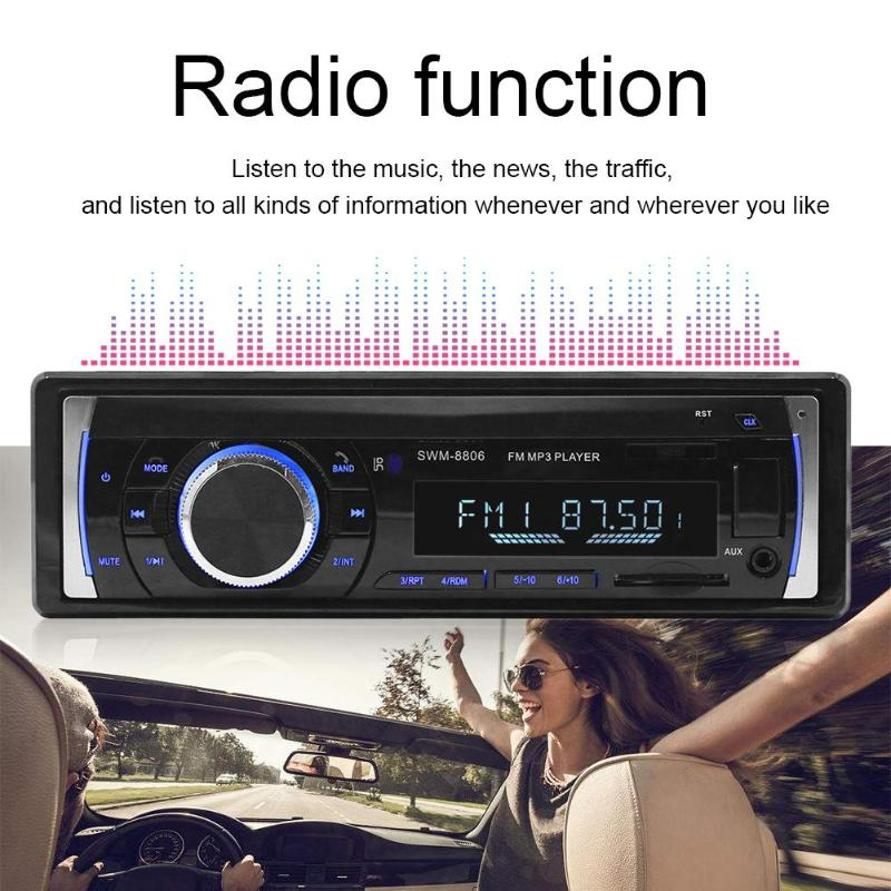 LCD Screen Bluetooth Handsfree Car Stereo In Dash MP3 Audio Player FM Radio U Disk Car Music Stereo MP3 Player