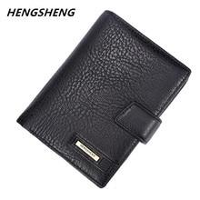 2017 varumärke Hengsheng manens plånbok högkvalitets hasp passväska för manlig Ny ankomst vintage korthållare med myntficka