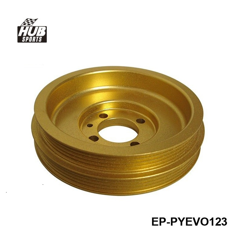 Underdrive Billet Lightweight Crank Pulley GOLD For Mitsubishi Lancer EVO 1,2,3 4G36 HU-PYEVO123 ...