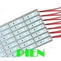 Aluminum Channel LED Strip light bar 1M 2835 SMD 12 Volt Warm white 72 LED hard rigid bar Car Caravan lamp CE&ROHS by DHL 100pcs