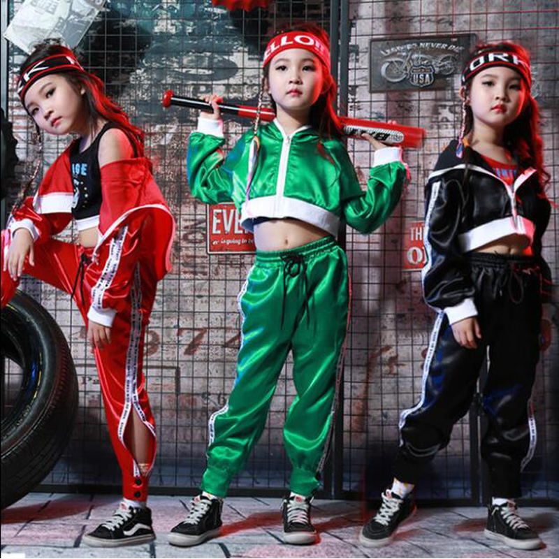 Ballroom 90-160 Hot 2019 New Fashion Childrens Street Dance Clothes Drum Dance Shirt Children Model Runway Show Costume Keep You Fit All The Time