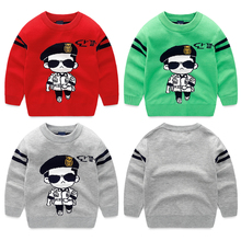 In the autumn of 2016 boys sweater Children's knitted fleece Baby sets the new children's wear round collar leisure coat
