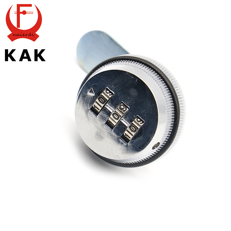 KAK Combination Cabinet Lock Black/Silver Zinc Alloy Password Locks Security Home Automation Cam Lock For Mailbox Cabinet Door
