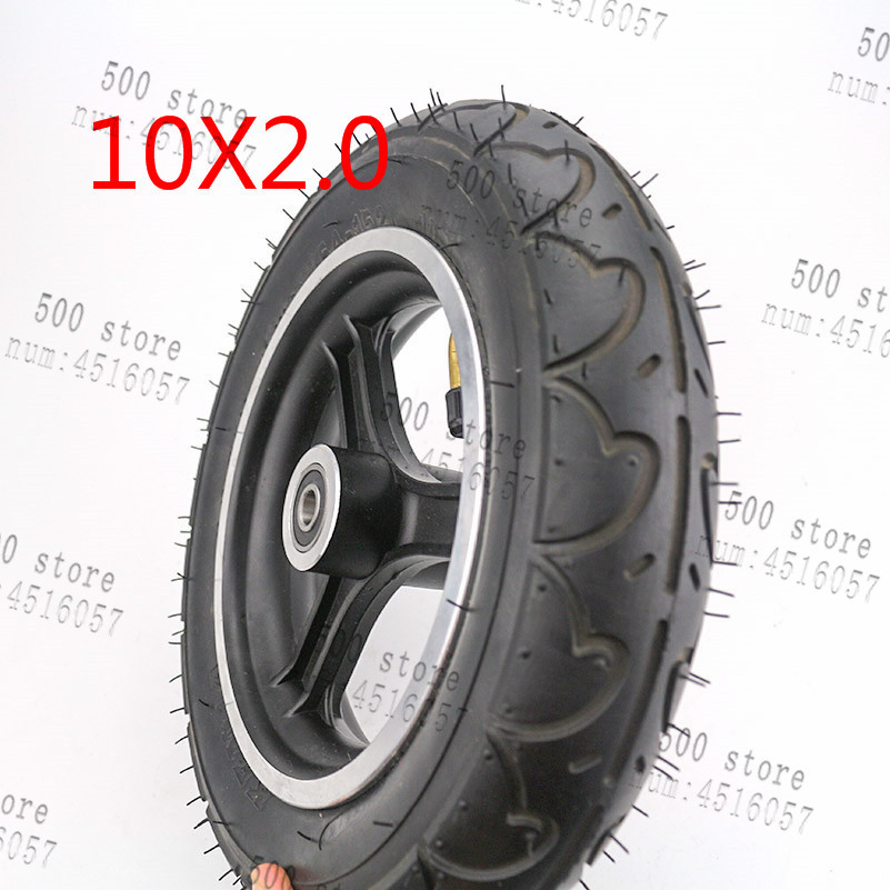 free shipping10x2 wheel 10x2 inner outer tire aluminum rims hub for 10inch electric scooter balancing car wheel ATV Quad Go Kart