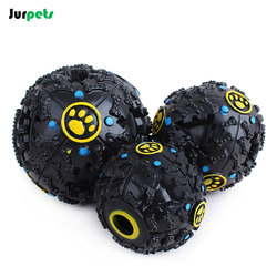 Puzzle Interactive Pet Toy Ball Squeak Play Ball for Dog Teeth Toy Intelligence Training Toy Food Leakage Ball Pet Feeder