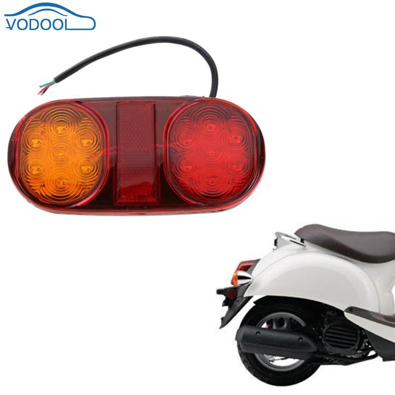 Waterproof Trailer Van Rear Light LED Tail Lights Warning Safety Rear Lamp For Auto Boat Caravan Dual insulation Car Styling yamaha led trailer light kit