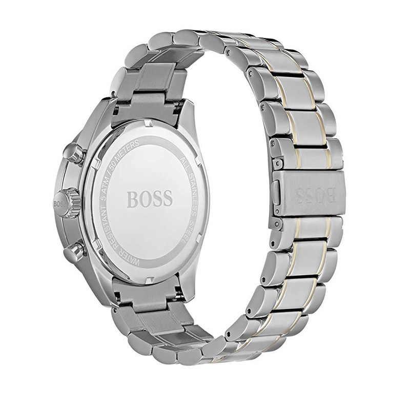 Reloj cronógrafo de negocios con correa de acero inoxidable para hombre-1513634