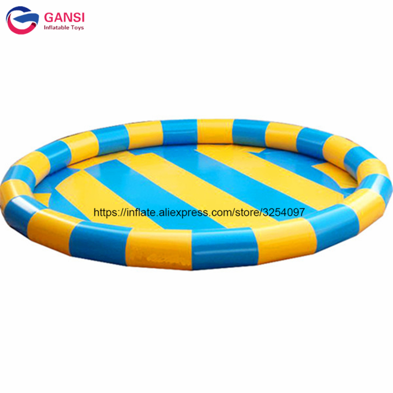 2018 hot selling 6m diameter inflatable pool toys,0.9mm pvc inflatable swimming pool for water walking ball