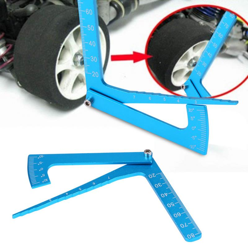 Blue Adjustable Ruler Adjusting Height And Wheel Rim Camber Multi-functional Multi Angle Measuring Template Tool RC Accessory