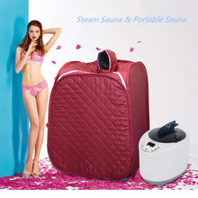 Portable Sauna  Personal Therapeutic Steam Sauna SPA Heater Slimming Detox EU US Plug Steam Wet Sauna Home Spa Sauna Steam Box agu takis sauna