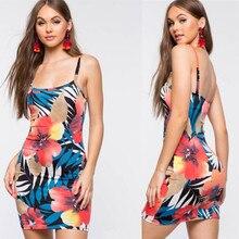 ZOGAA 2019 Hot Summer Print Sling dress Women Casual  Sleeveless Knee-Length Bodycon Dress Spaghetti Strap Strapless Sundress