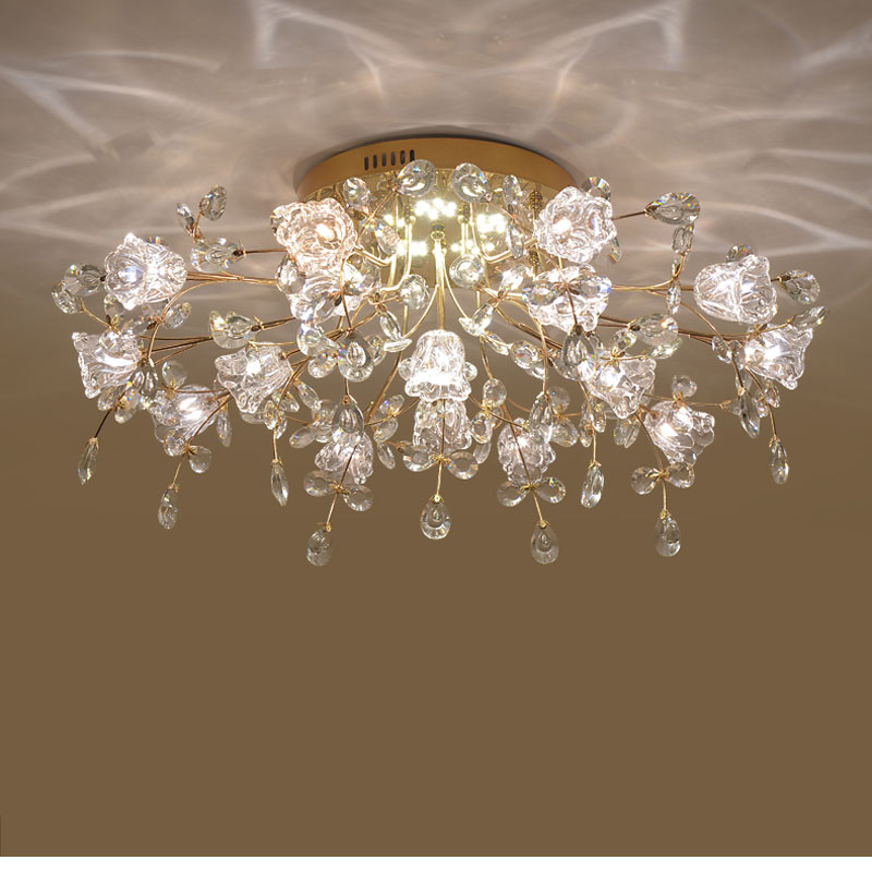 LED Crystal Ceiling Lights Bedroom Chinese Ceiling Light Decoration Indoor Lighting LED Home Lights for Living Room Ceiling Lamp hot crystal modern led ceiling lights for living room bedroom home indoor decoration led ceiling lamp lighting light fixtures
