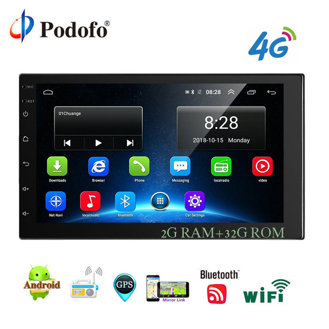 podofo 2 din android car multimedia 2g 32g 7 inch car radio gpspodofo 2 din android car multimedia 2g 32g 7 inch car radio gps navigation wifi bluetooth mp5 player support 4g lte sim network