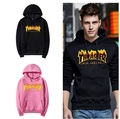 2017 New Fleece Autumn Winter Trasher Men's Hoodies Streetwear Skateboard Hip hop Hoody Thrasher Sweatshirt Men Women Sweat
