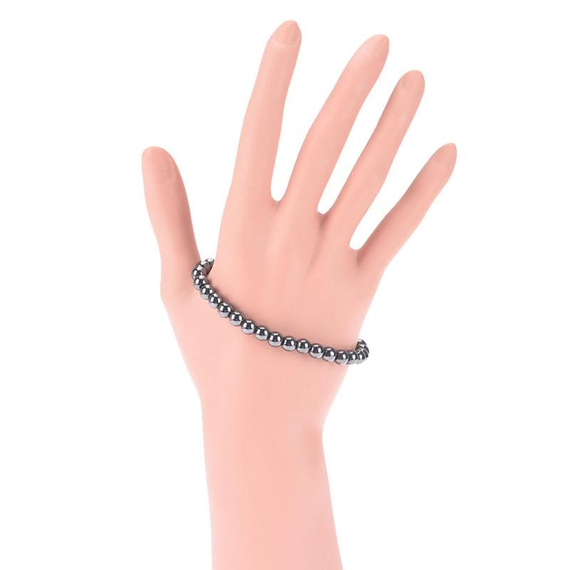1 Pc Schwarz Stein Magnetische Therapie Armband Fußkettchen Abnehmen Produkt Gesundheit Pflege Gewicht Verlust Magnet Armband Hitze Und Durst Lindern. Schönheit & Gesundheit