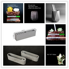 Decorating Clay Pot Mould Desktop Storage Box Pen Holder Cemen Molds Concrete Flowerpot Stationery Cards Silicone Mold