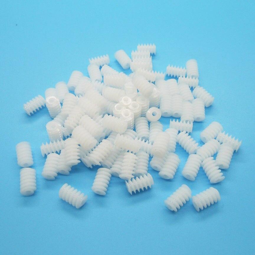 6*10mm Worm Gear 2A Turbine Hole 2mm Tight ( 1.95MM ) Reduction Gear Plastic Pinion DIY Toy Accessories W6102A 100PCS/LOT