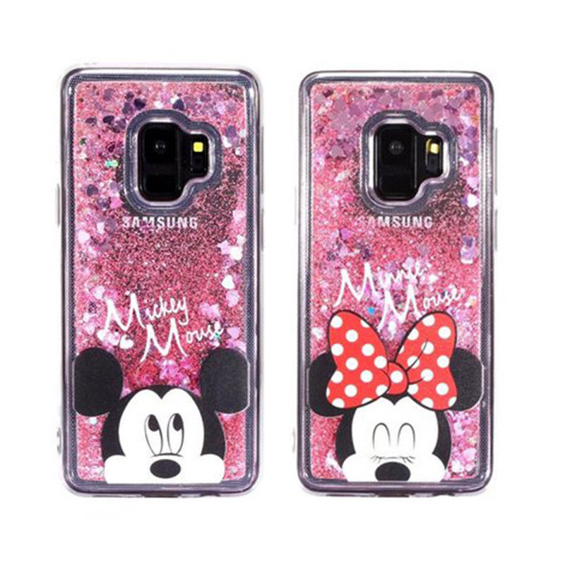 Mickey Mouse Minnie Dynamic Liquid Glitter Quicksand Moving Soft Back Phone Case Cover for IPhone 6S 7 Plus 8 XS Max in Fitted Cases from Cellphones Telecommunications