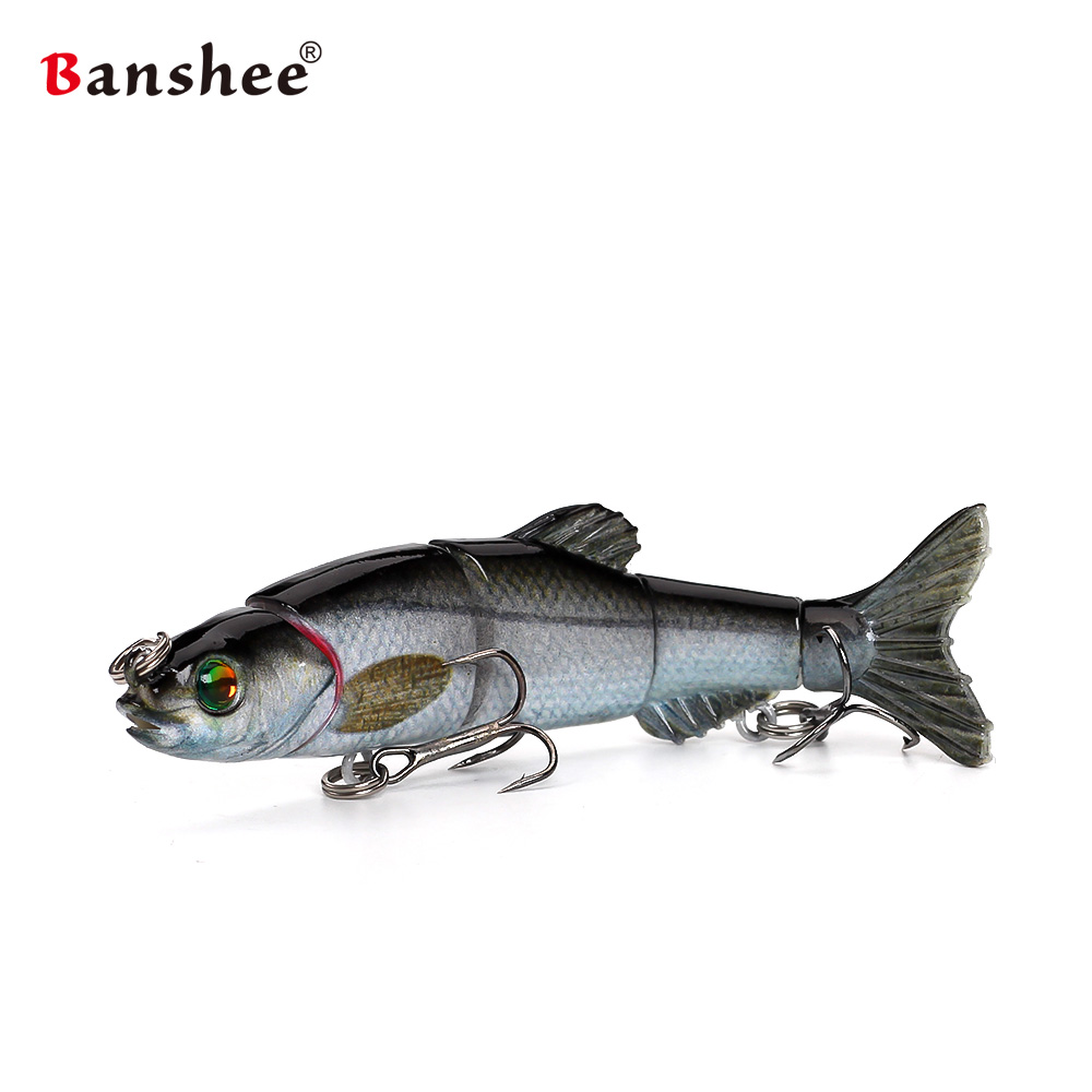 Banshee 100mm 10g Fishing Lures VMJM05-4.5 Swimbait Jointed Sections Hard Artificial Bait Bass Pike Walleye Fishing Wobbler banshee 127mm 21g nexus voodoo atj01 swimbait two sction multi jointed topwater walk dog stickbait floating pencil