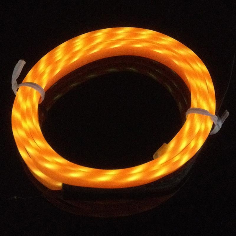 POSSBAY 3M Flashing Flexible Neon Light Glow Chasing EL Wire Rope ...