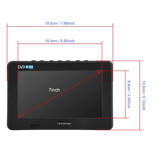 Image 5 - LEADSTAR 7inch DVB T T2 16:9 HD Digital Analog Portable TV Color Television Player for Home Car for EU Plug