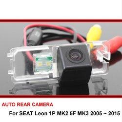 Dla SEAT Leon 1P MK2 5F MK3 2005 ~ 2015 Night Vision kamera cofania kamera cofania samochodu HD CCD w Kamery pojazdowe od Samochody i motocykle na