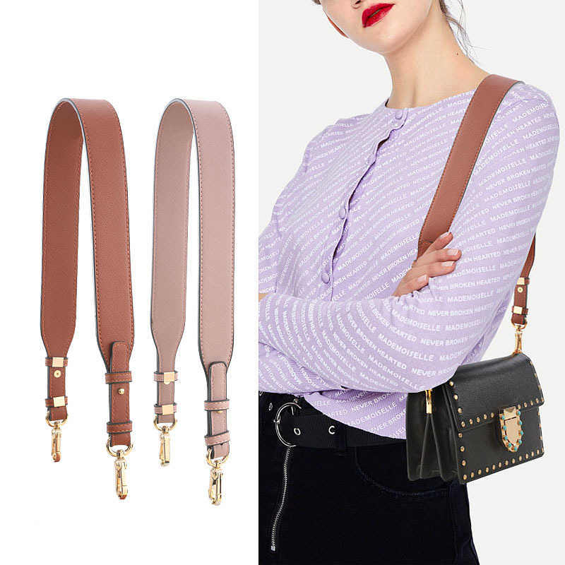 Brand Crossbody Bag Strap Wide Shoulder Strap For Bag Accessory Vintage Strap Leather For Handbag Solid Sac Bandouliere Femme